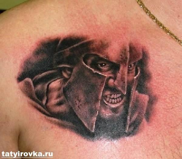 Тату-спартанец-Значение-тату-спартанец-Эскизы-и-фото-тату-спартанец-7