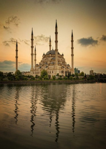 The Blue Mosque, Fatih Istanbul Turkey - Architecture, Dome, Lake, Landmark, Mosque, Reflection