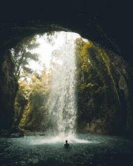 Aling-Aling Waterfall, Buleleng Bali Indonesia - Body of water, Fluid, Liquid, Natural landscape, Nature, Nature reserve, Outdoor structure, Water feature, Water resources, Watercourse
