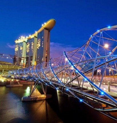 Gardens by the Bay, Singapore Central Singapore - Architecture, Bridge, Night