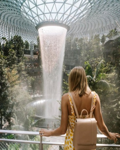 Changi Airport, Singapore South East Singapore - Fountain, Luggage and bags, Person