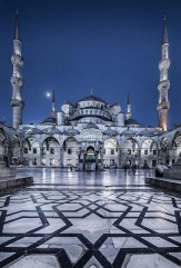 The Blue Mosque, Fatih Istanbul Turkey - Mosque, Night, Tower