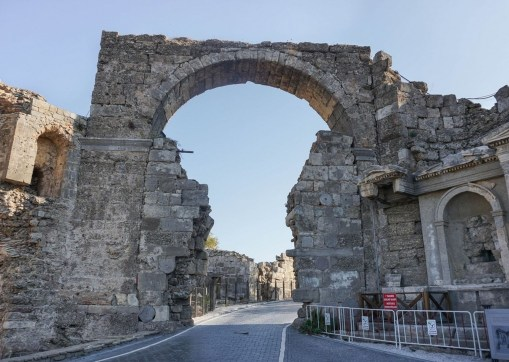 Great Gate, Side Antalya Turkey - Ancient history, Archaeological site, Rock