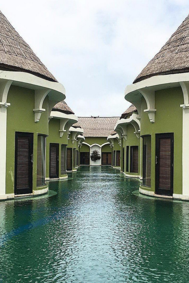 Penebel Tabanan Indonesia - Aqua, Architecture, Facade, Home, House, Outdoor structure, Property, Real estate, Residential area, Roof, Turquoise