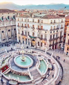 Tribunali o Kalsa, Palermo Palermo Italy - Architecture, Building, City, Daytime, Fountain, House, Infrastructure, Public space, Sky, Urban design, Water, Window