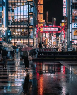 Kabukicho, Tokyo Tokyo Prefecture Japan - Automotive lighting, Body of water, Building, Cityscape, Electricity, Infrastructure, Line, Mode of transport, Person, Public space, Water