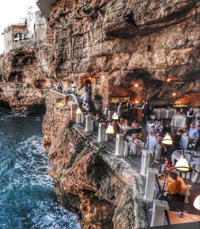 Polignano, Italy - Building, Coastal and oceanic landforms, Leisure, Person, Travel, Water, Watercourse