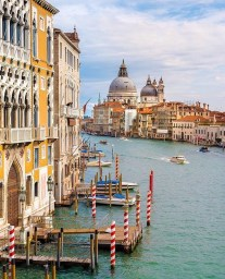 Grand Canal, Venice Italy - Boat, Body of water, Building, Cloud, House, Lake, Sky, Travel, Vehicle, Water, Watercraft, Window