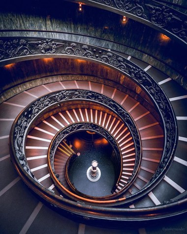 Vatican Museums, Italy - Architecture, Eye, Lighting, Line, Rim, Stairs