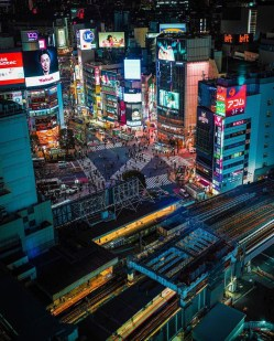 Shibuya, Tokyo Japan - Aerial photography, Architecture, Building, Cityscape, Light, Skyscraper, Tower, Tower block