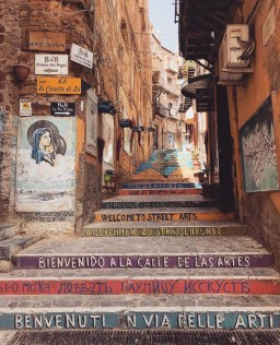 Agrigento, Italy - Building, Flooring, Person, Road surface, Stairs, Wood