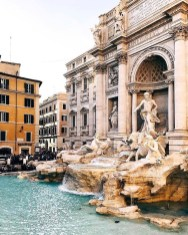 Trevi Fountain, Rome Rome Italy - Architecture, Building, City, Daytime, Fountain, Person, Sculpture, Sky, Statue, Water, Window