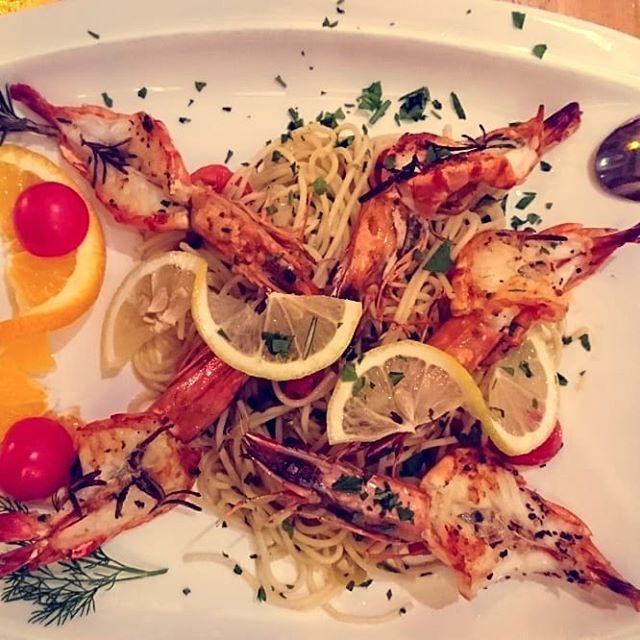 Spaghetti aglio e olio con Gamberetti