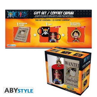 ONE PIECE - MUG 320ML + PORTACHIAVI + NOTEBOOK LUFFY