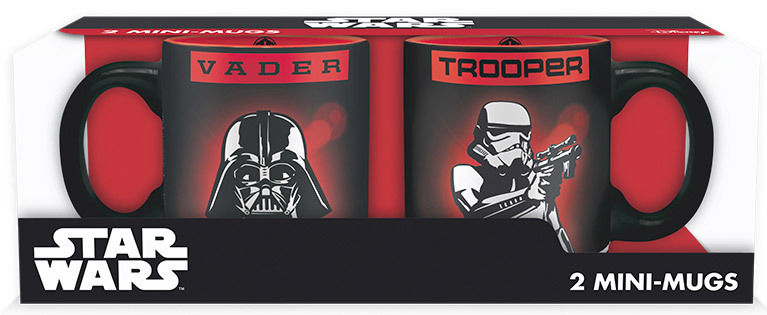 STAR WARS - SET 2 MINI-MUGS 110ML - VADER & TROOPER