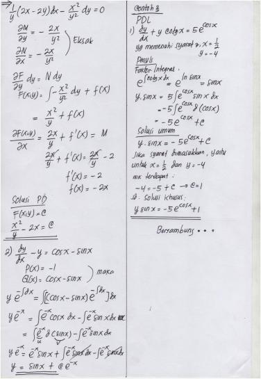 Yang beragam untuk kelas 1 hingga kelas 6 sekolah dasar (sd). Jawaban Quiz 1 Mk Matematika Teknik I Taufiqur Rokhman