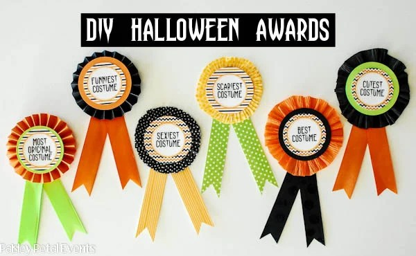 diy halloween costume award prize ribbons