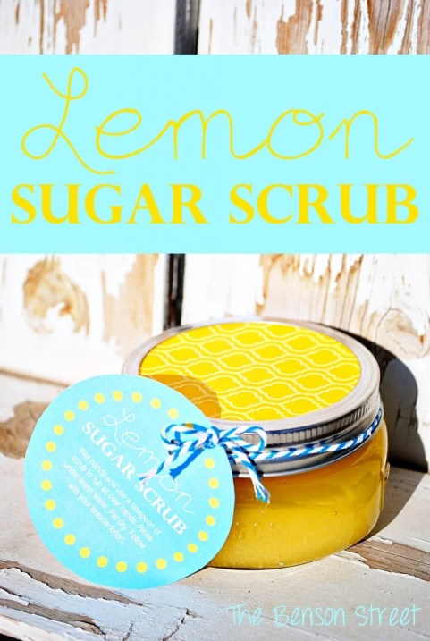 Lemon Sugar Scrub via The Benson Street