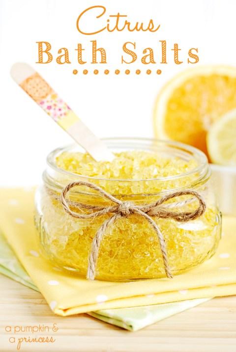 Homemade Citrus Bath Soaps