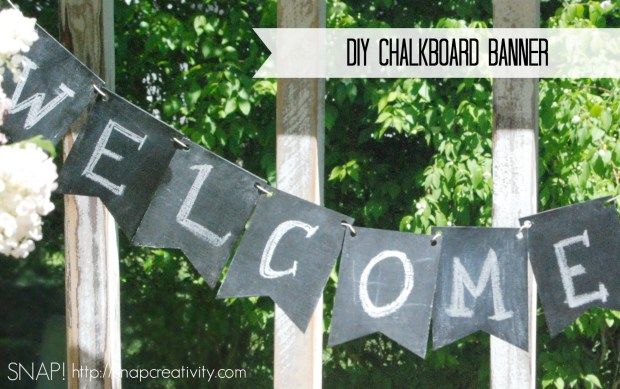 DIY Chalkboard Banner