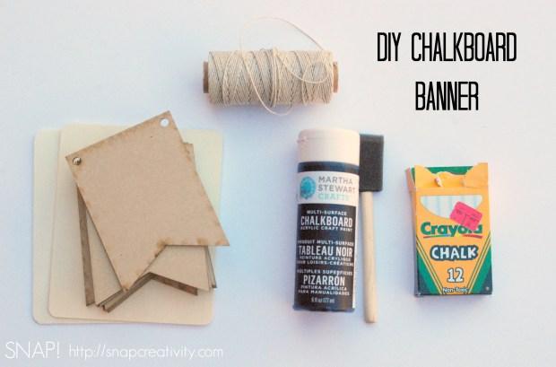 DIY Chalkboard Banner Supplies