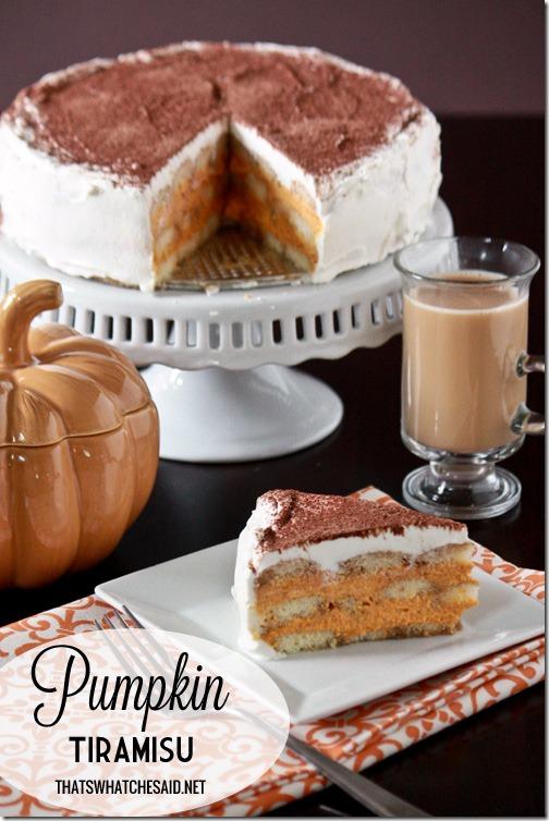 Pumpkin Tiramisu via That's What Che Said