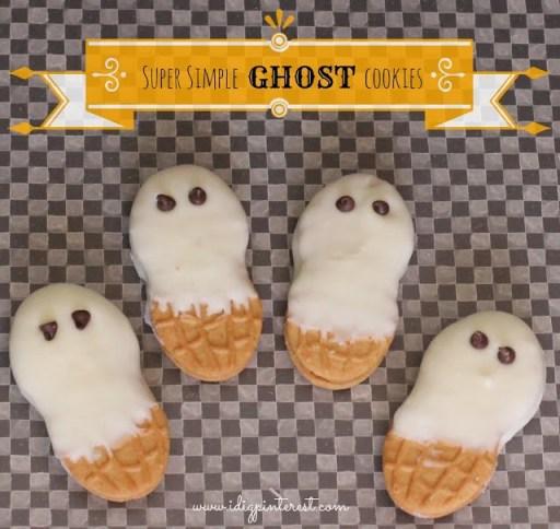 Ghost Cookies via I Dig Pinterest