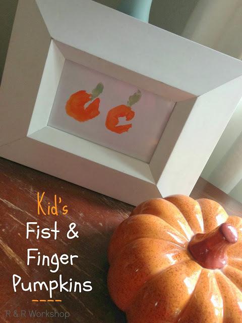 Kids Finger Paint Pumpkin via R&R Workshop
