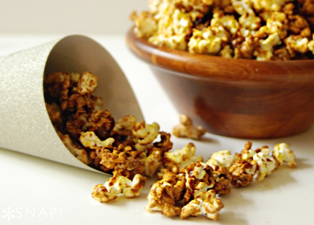 Gingerbread Popcorn Recipe via SNAP!
