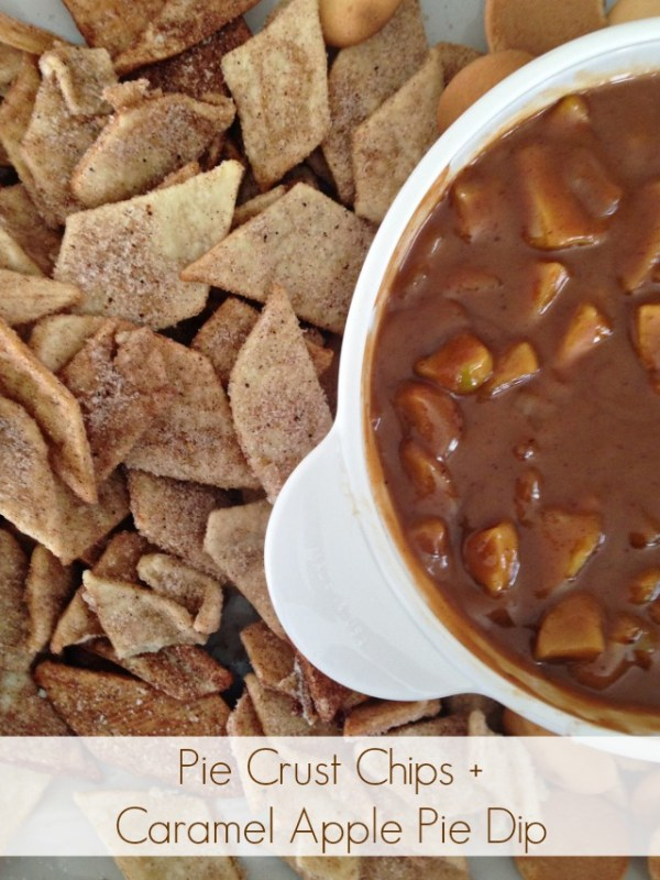 Pie Crust Chips + Caramel Apple Pie Dip via https://taunieverett.com #recipe #appetizer #dessert #apple #dip