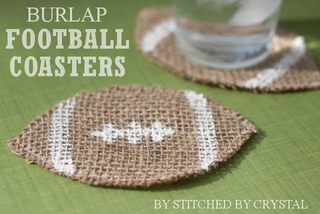 DIY Football Coasters by Tauni Everett