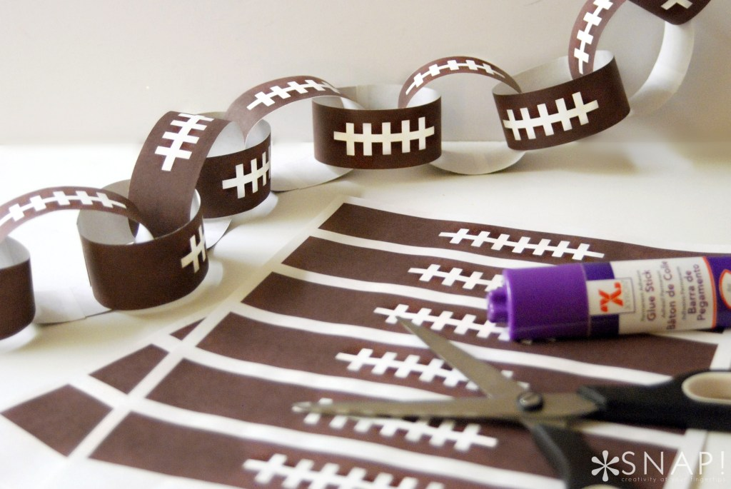 Print and Cut Football Paper Chain by Tauni Everett