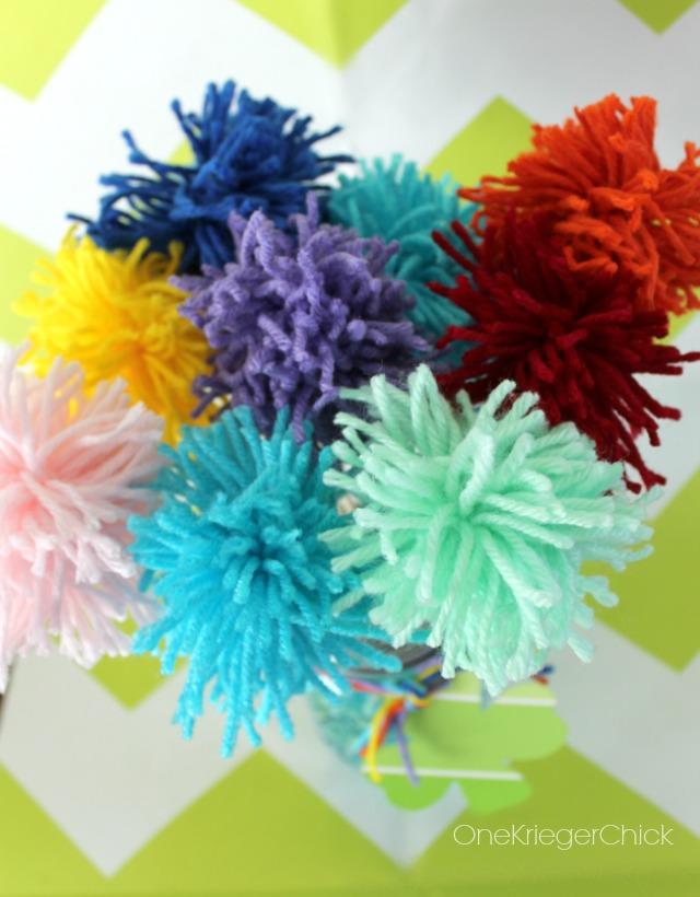 colorful Pom Pom bouquet