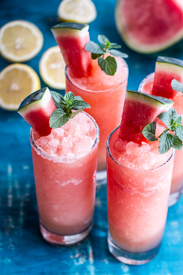 Pink watermelon lemonade recipe. So yummy for summer!