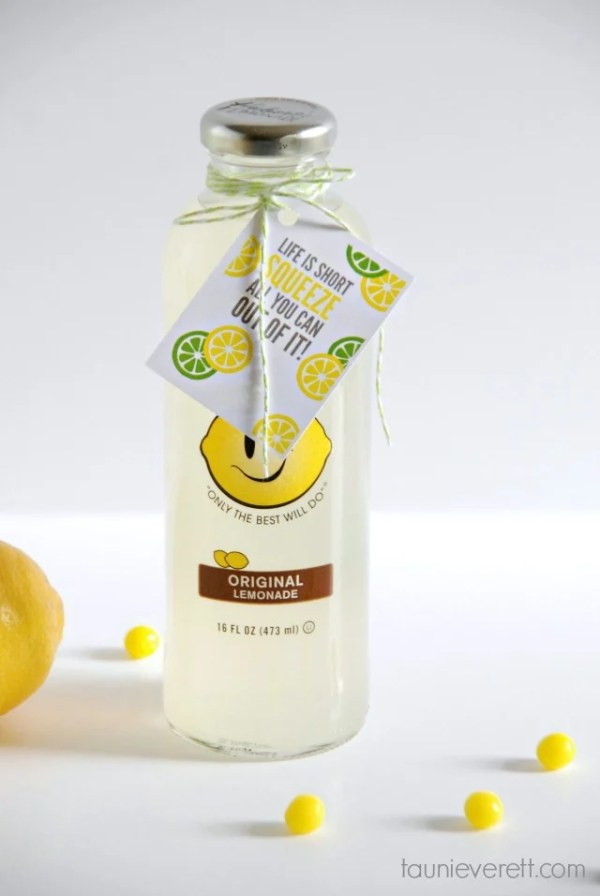 Free print and cut squeeze the life lemonade gift tag