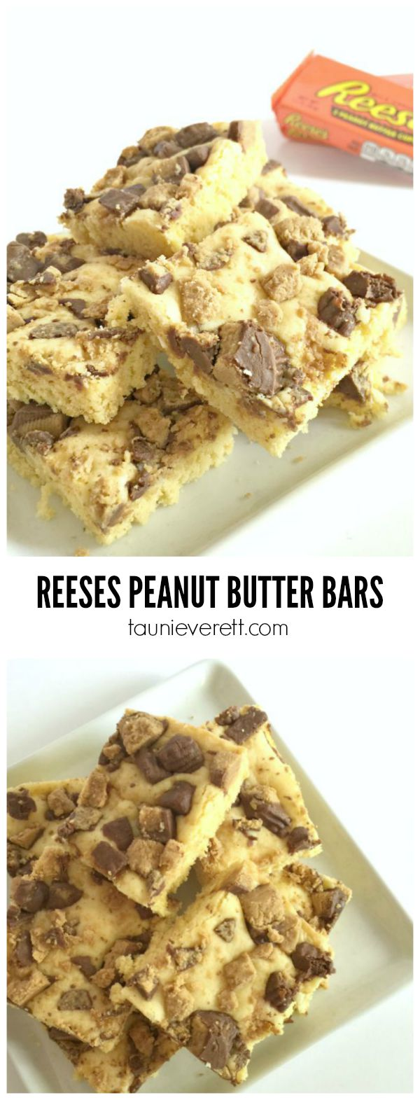 Reeses Peanut Butter Bars Recipe. This recipe is super-simple. Great for a last-minute treats or teaching beginning bakers.