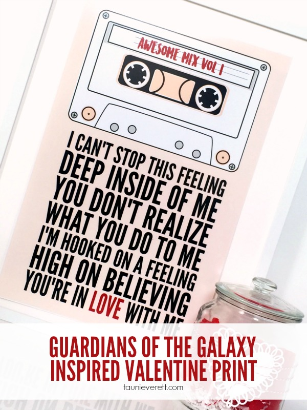 Guardians of the Galaxy Inspired Valentine Print. FREE download available!