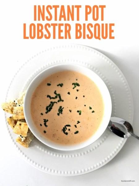 Instant Pot Lobster Bisque