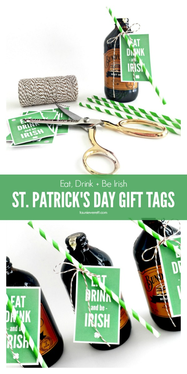 Free Print + Cut St. Patrick's Day Gift Tags