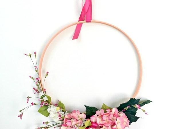 DIY Modern Spring Wreath