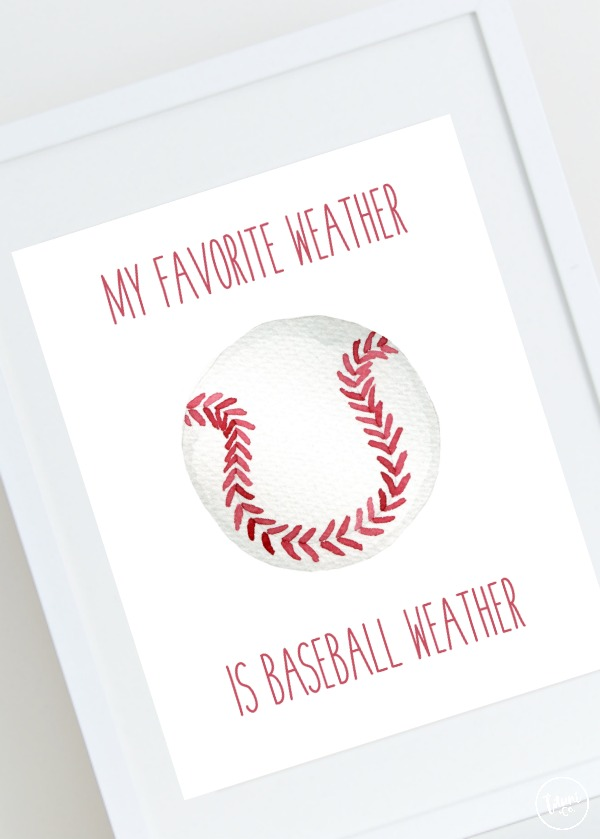 Free baseball weather print.
