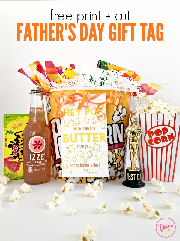 Punny Hey Pop Father's Day Gift Tag. Perfect last-minute Father's Day gift.