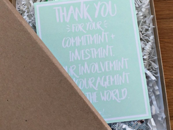 Free Mint Thank You Print + Cut File