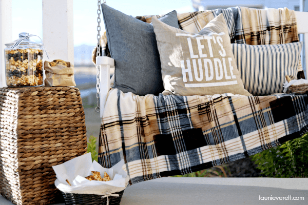 Let's Huddle Pillow by Tauni Everett