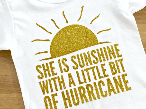 Sunshine and Hurricane T-Shirt and Cut File