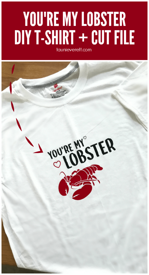 Youre my lobster cut file pinterest