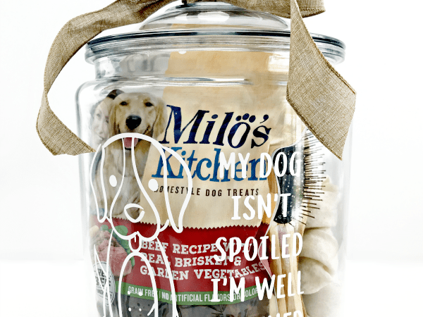 Spoiled Dog Treat Jar Cut File Project with Milo's Kitchen