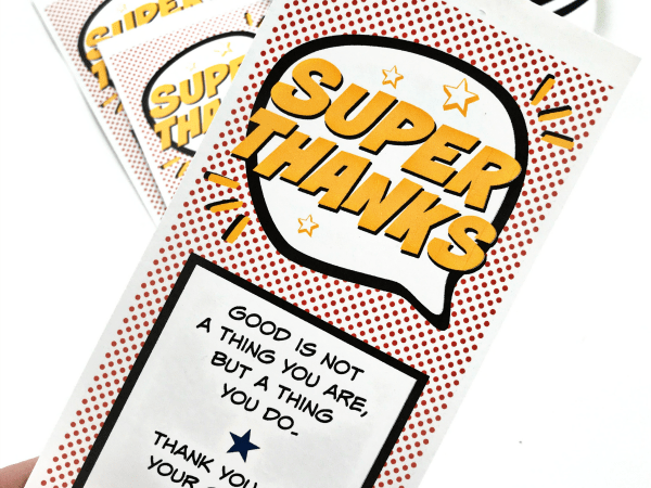 Community Super Thanks Printable Gift Tag