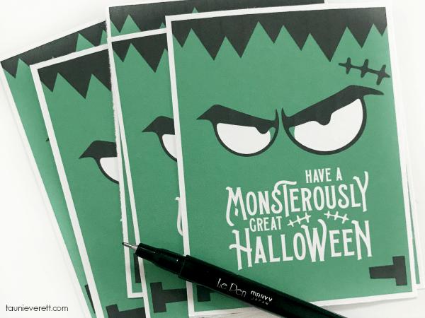 Monsterously Great Halloween Printable