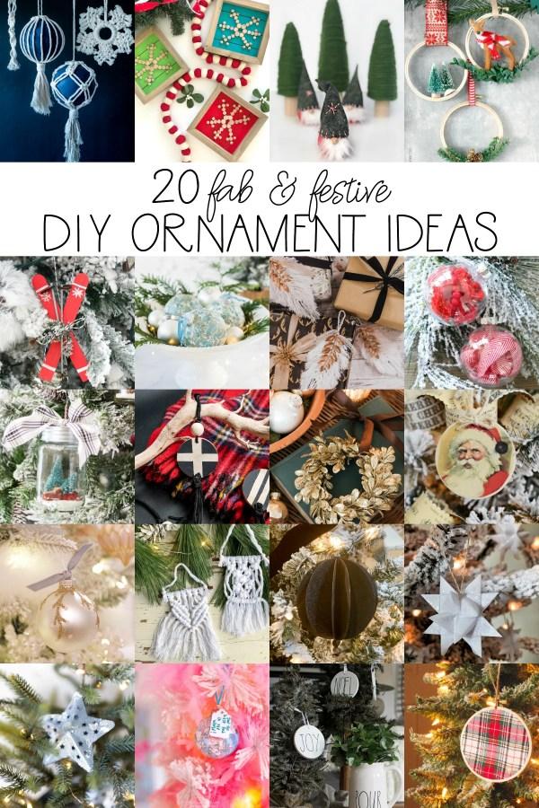 20 fab and festive diy ornament ideas